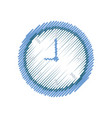 isolated round clock vector image
