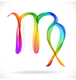 Abstract color sign of the zodiac - Virgo vector image