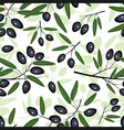 olive seamless pattern black vector image