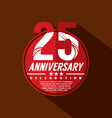 25 Years Anniversary Celebration Design vector image vector image