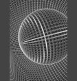 abstract 3d illuminated distorted mesh sphere vector image