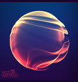 abstract colorful mesh sphere on vector image vector image