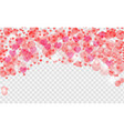 abstract heart valentine background festive vector image vector image