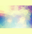 abstract soft blue yellow pink triangles vector image