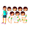 asian teen girl teenager positive person vector image