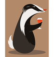 Badger Wine Taster vector image vector image