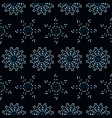 beautiful seamless pattern with blue snowflakes vector image vector image