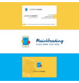 beautiful smartphone logo and business card vector image