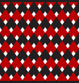 black and red gingham diamond seamless pattern vector image