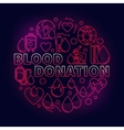 Blood Donation red vector image