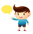 Boy Say Balloon Cartoon vector image vector image