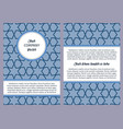 brochure with blue geometric pattern vector image vector image