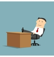 Businessman resting with feet on the table vector image