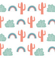 cactus background design vector image vector image