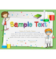 Certificate with scientists background vector image vector image