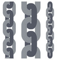 chain links set vector image vector image