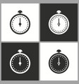clock time icon stopwatch timer symbol vector image vector image