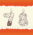 collection birthday candles 7 and 8 vector image