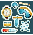 Colored stickers for rock climbing vector image vector image