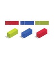 container isometric and from front set collection vector image