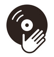 dj icon vinyl player icon vector image
