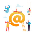 e-mail social media virtual communication concept vector image