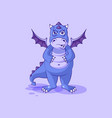 emoji character cartoon dragon dinosaur vector image