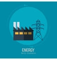 energy factory tower electricity symbol blue vector image vector image
