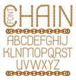 english alphabet letters collection capital vector image vector image