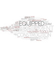 equipped word cloud concept vector image vector image