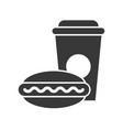 fast food set food and beverage set glyph design vector image vector image