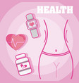 fitness and healthy concept vector image