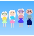 Four women grandmother mother daughter and vector image