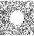 garden flowers frame vector image vector image