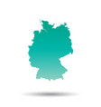 germany map colorful turquoise on white isolated vector image