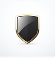 gold and black shield vector image vector image