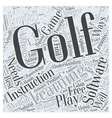 Golf Learning Software Word Cloud Concept vector image vector image