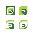 Green letter s logo set vector image vector image