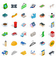 hail icons set isometric style vector image vector image
