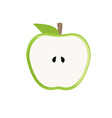 Half green apple vector image vector image