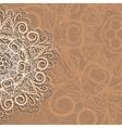 Half of snowflake vector image vector image