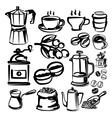 hand draw coffee vector image vector image