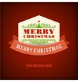 Merry Christmas card ornament decoration vector image vector image