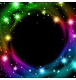 Multicolored Night Bright Star Background vector image vector image
