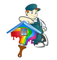 painter for painting at home vector image vector image