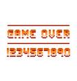 pixel retro font computer game numbers design vector image vector image