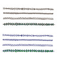 plait and braids isolated on white background set vector image vector image