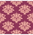 Purple and pink paisley style seamless pattern vector image vector image