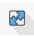 puzzle part jigsaw piece solution thin line flat vector image vector image