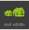 real estate commercial design banner and vector image vector image